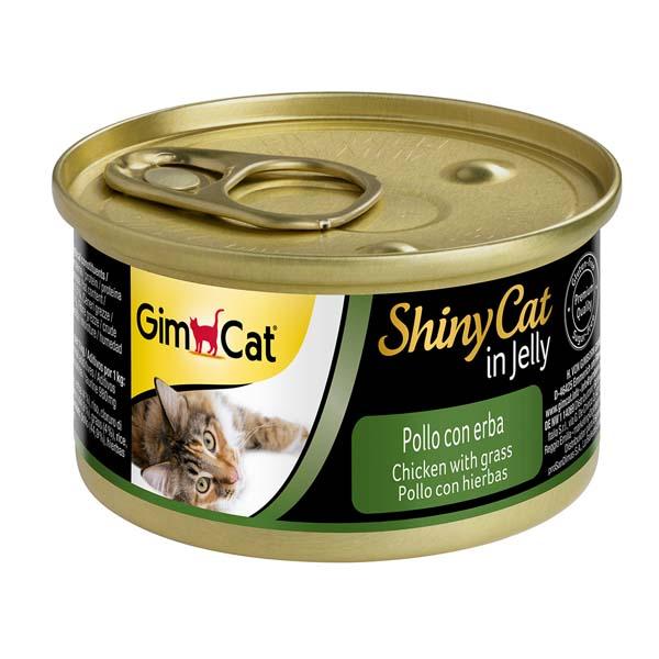 Gimcat Shinycat Tavuklu Ve Çimenli Yetişkin Kedi Konservesi 70 gr